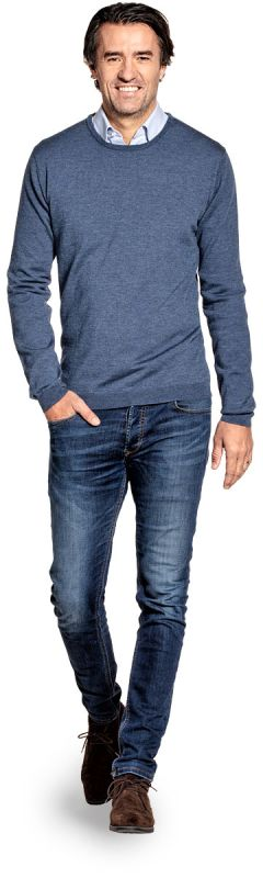 Joe Yak Classic Crew Jeans Blue
