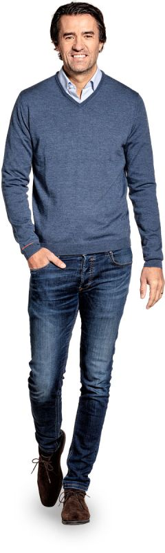 Joe Yak V-Neck Jeans Blue