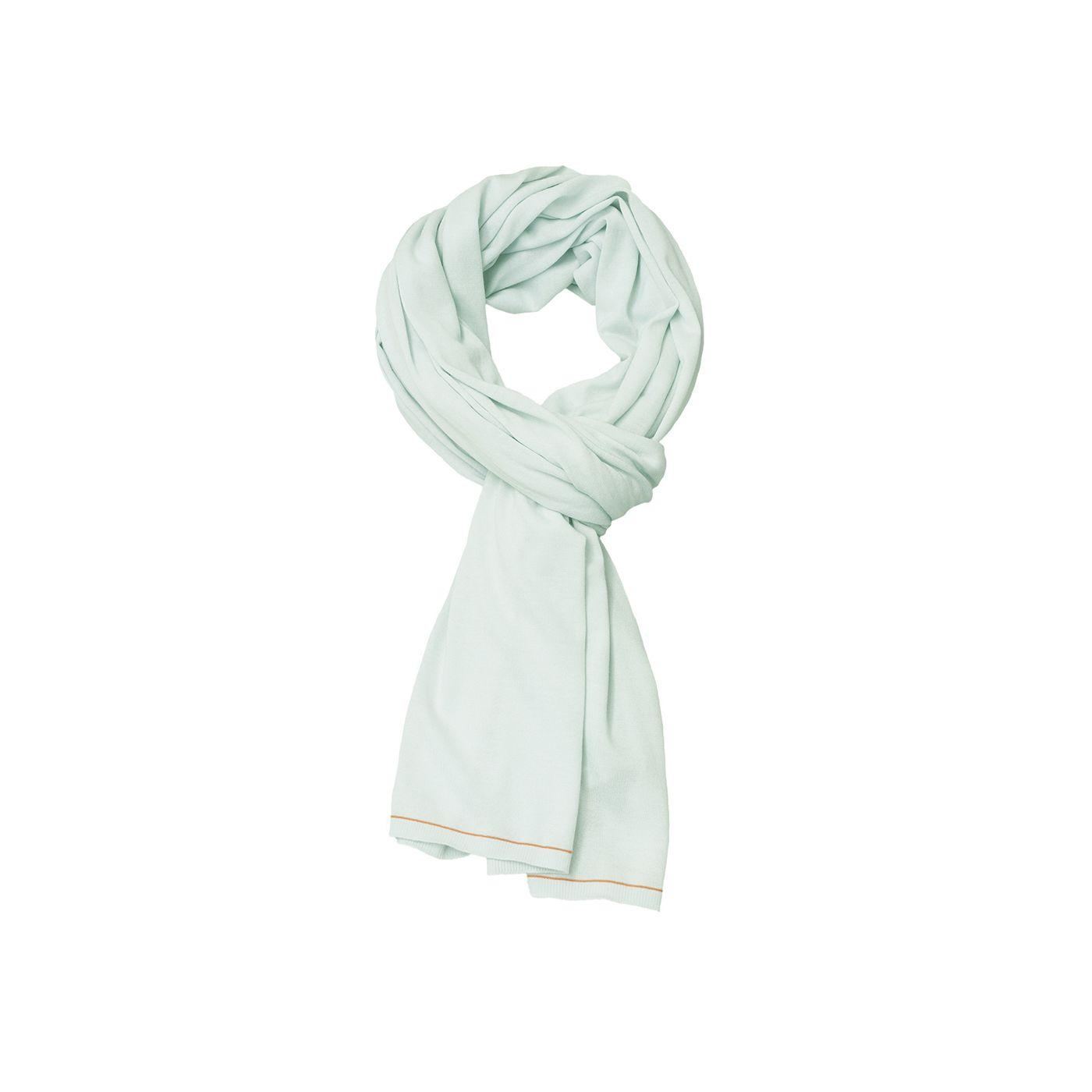 Sjaal voor mannen gemaakt van merinowol in het Lichtgroen