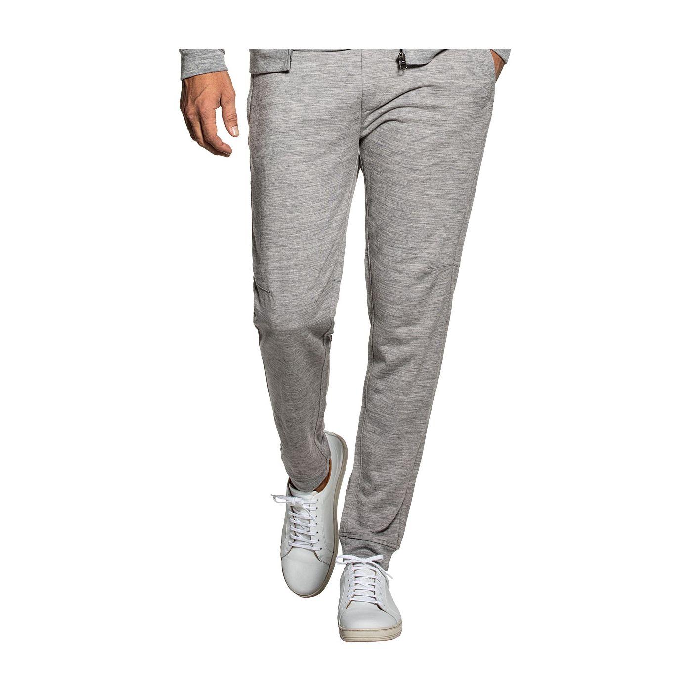 Sweatpants for men made of Merino wool in Grey