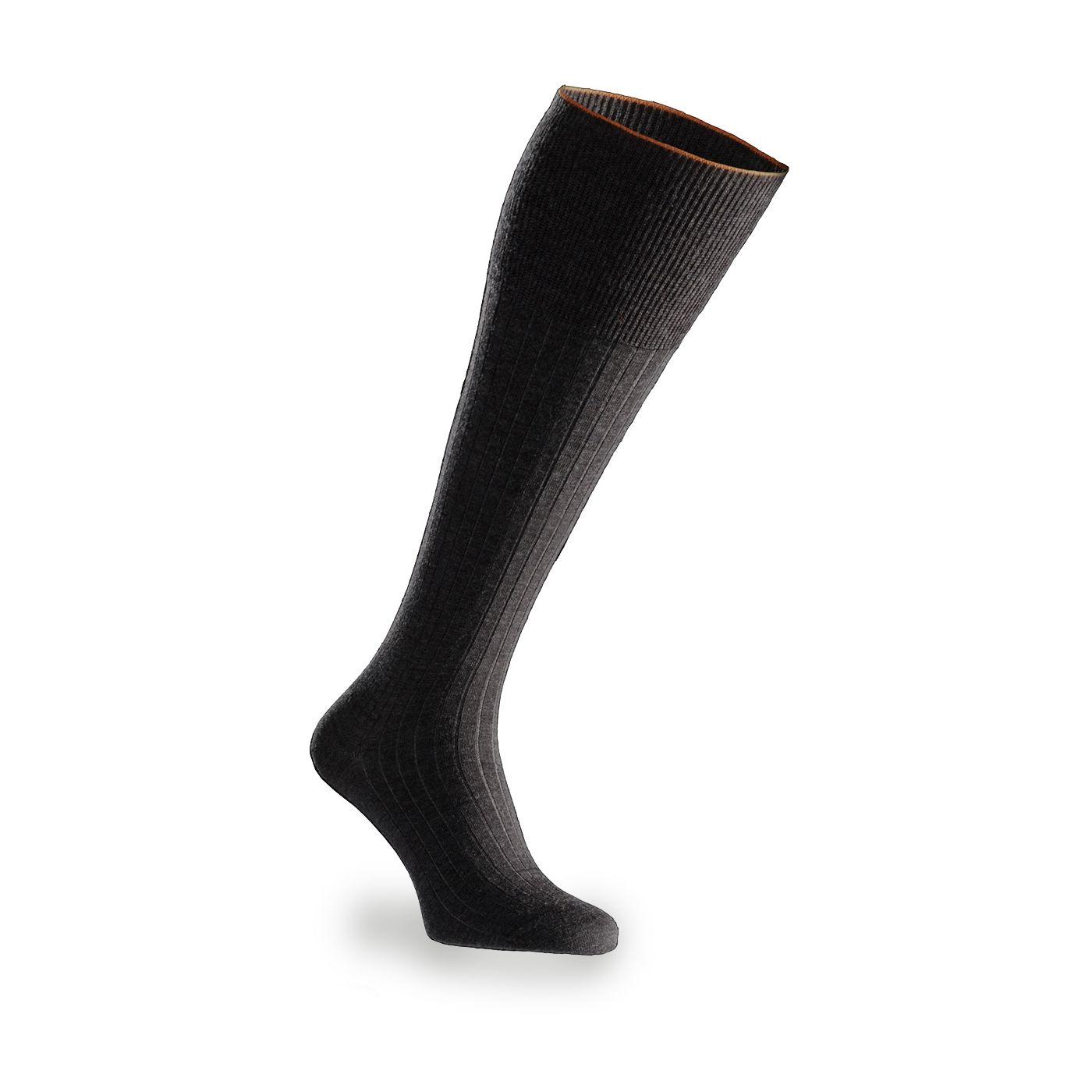 Socks for men made of Merino wool in Dark grey