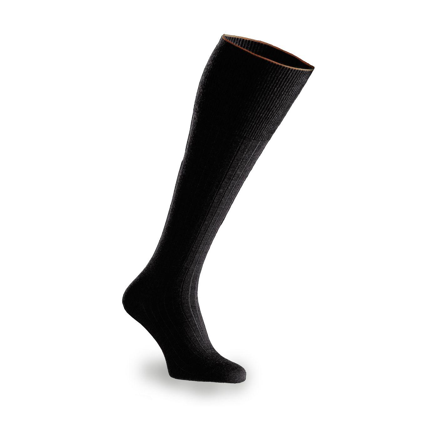 Socken für Herren aus Merinowolle in Schwarz