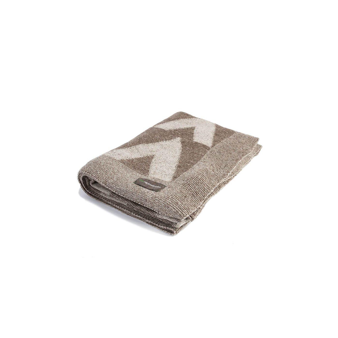 Plaid for men made of Merino wool in Beige