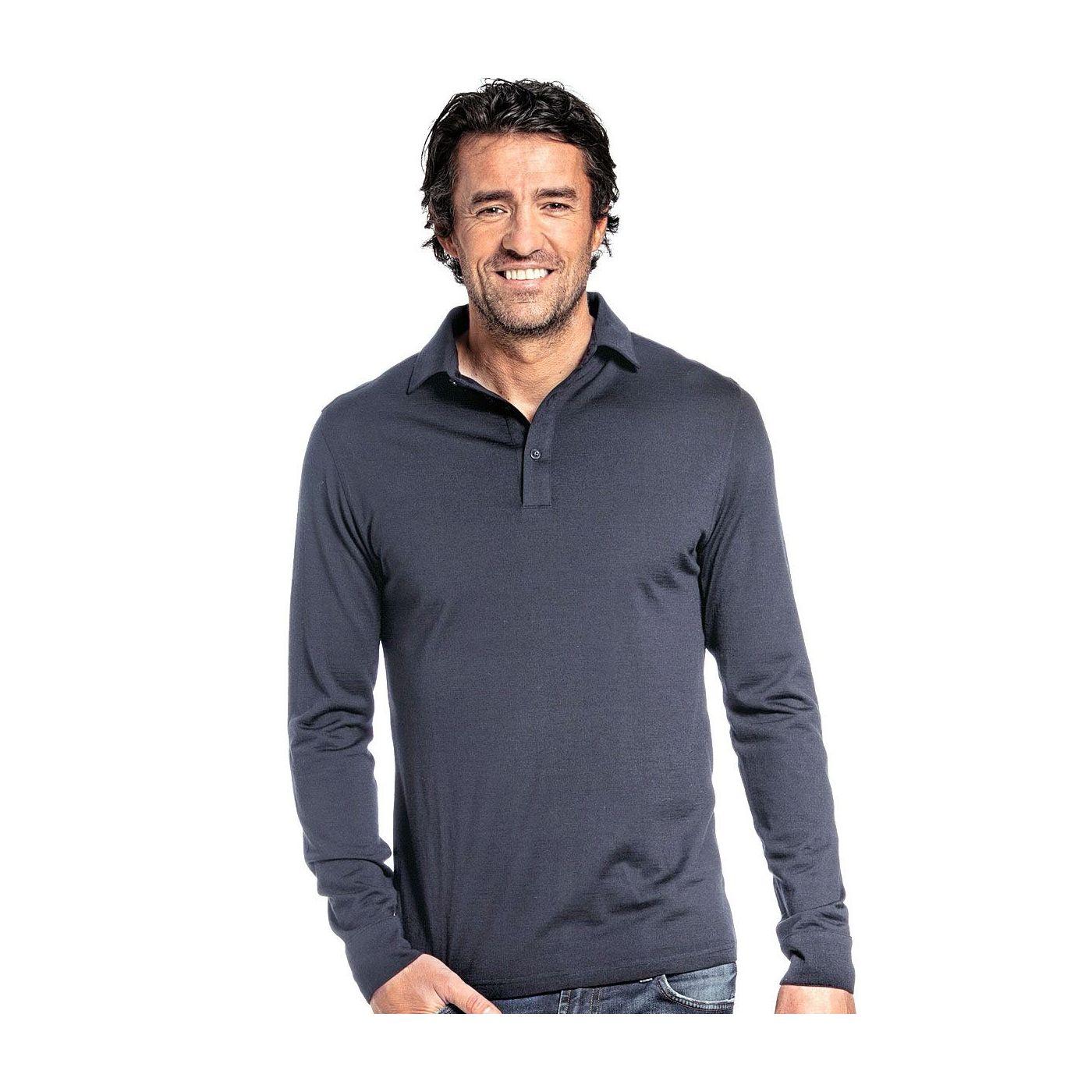Shirt Polo Long Sleeve Dark Steel