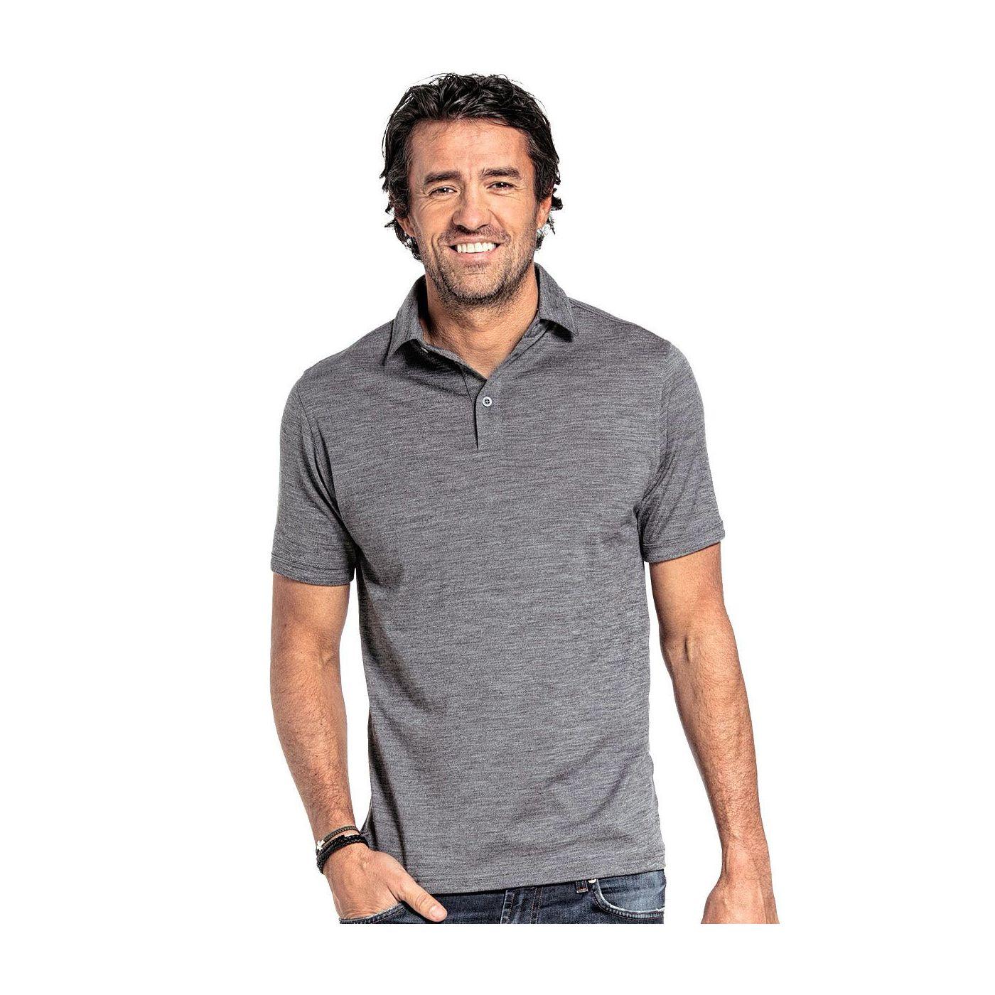 Shirt Polo Short Sleeve Grey Charcoal