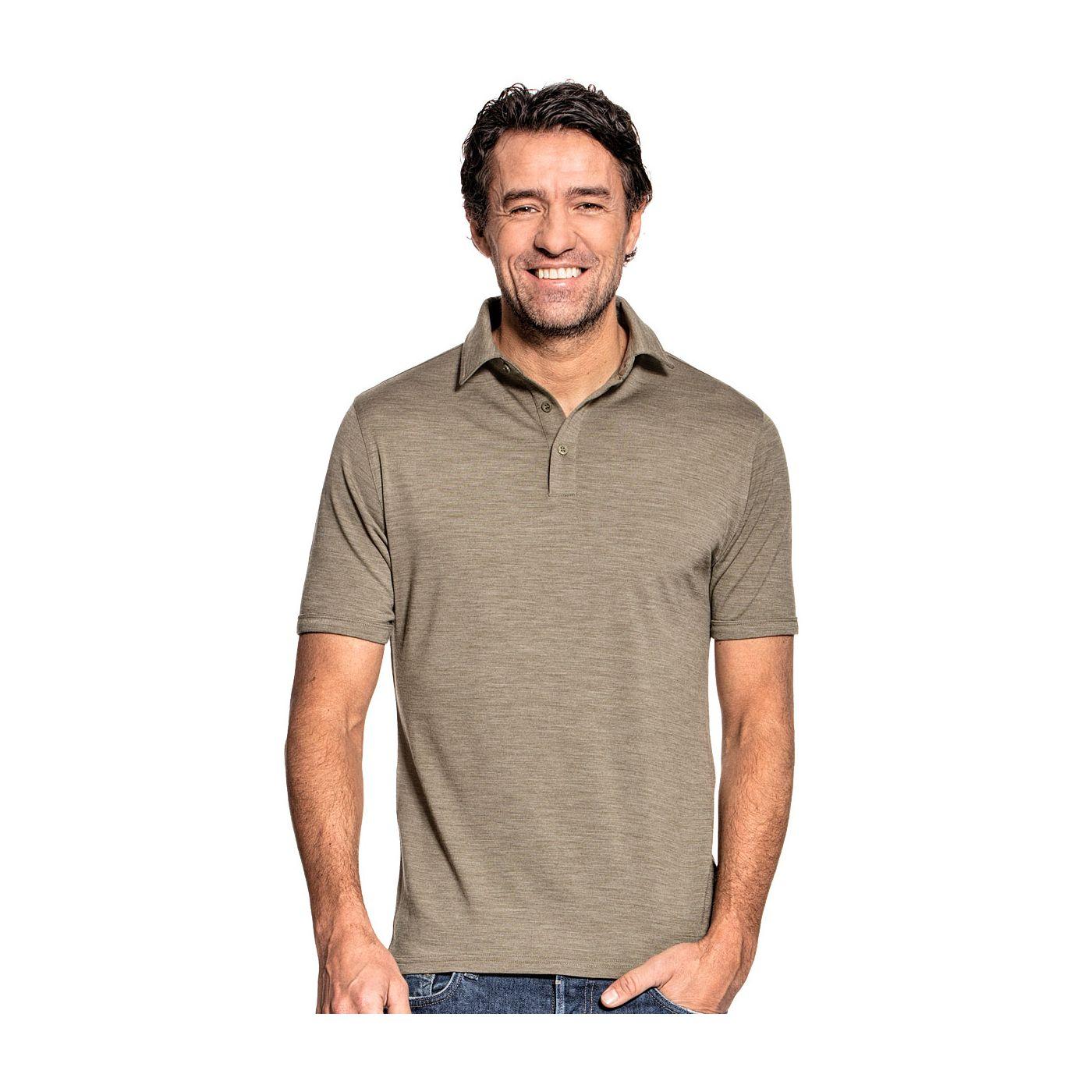 Shirt Polo Short Sleeve Clean Kaki