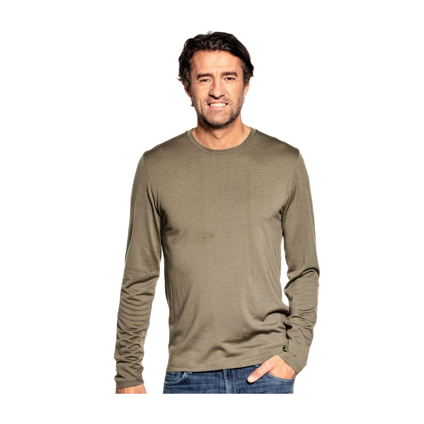 Shirt Long Sleeve Clean Kaki
