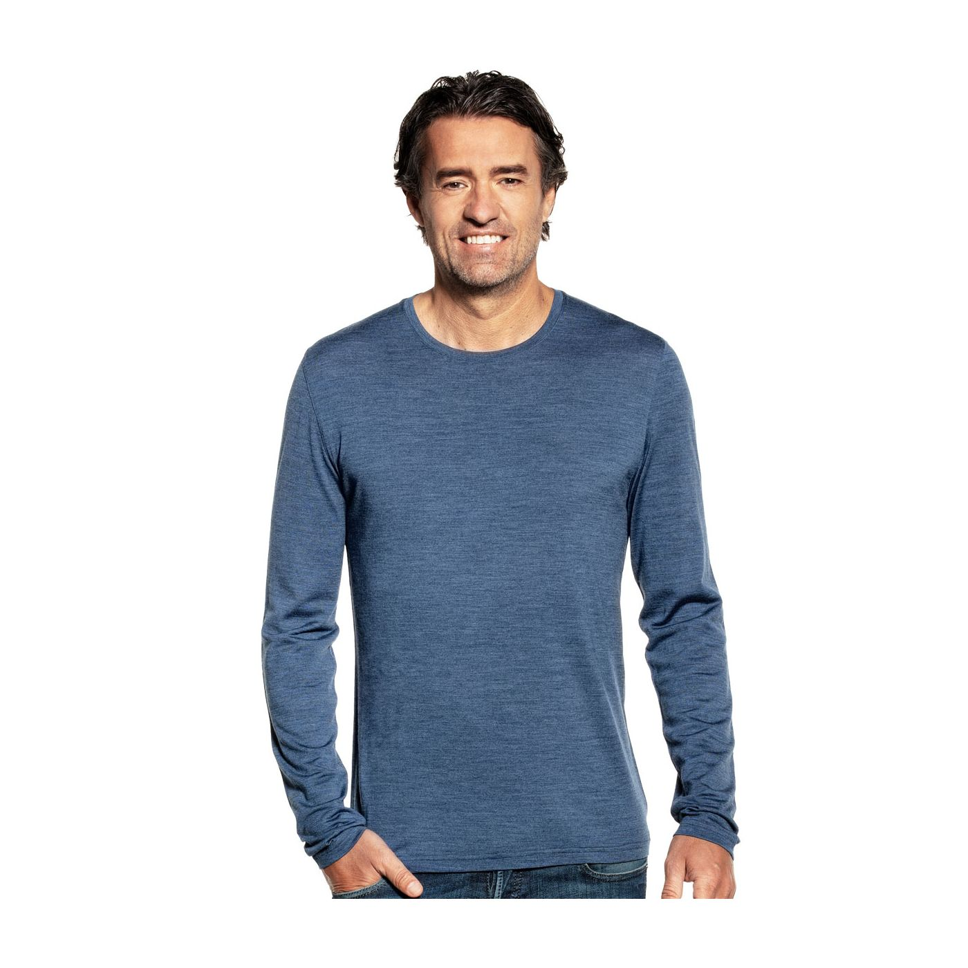 Shirt Long Sleeve Jeans Blue