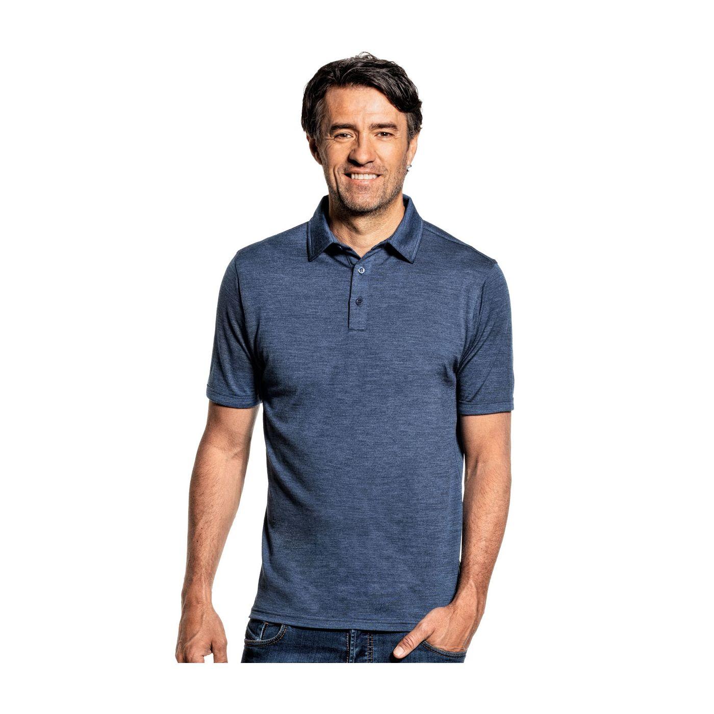 Shirt Polo Short Sleeve Coastal Blue