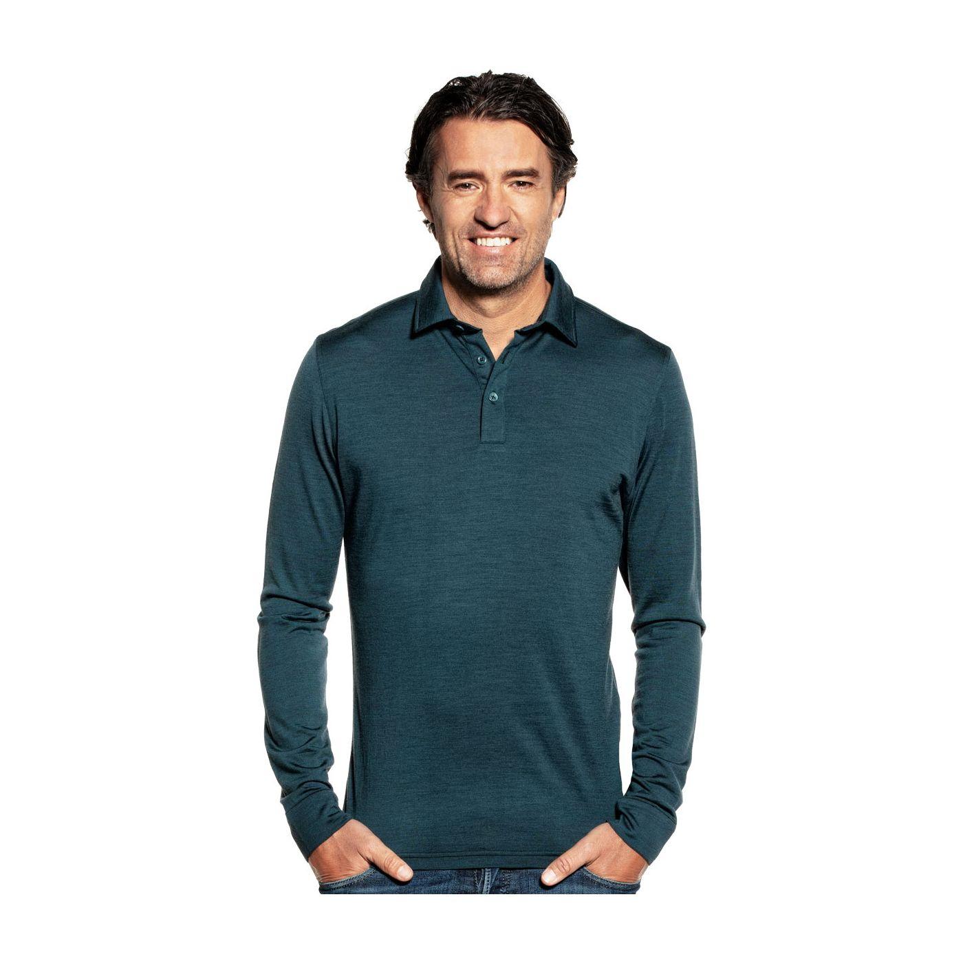 Shirt Polo Long Sleeve Proud Peacock