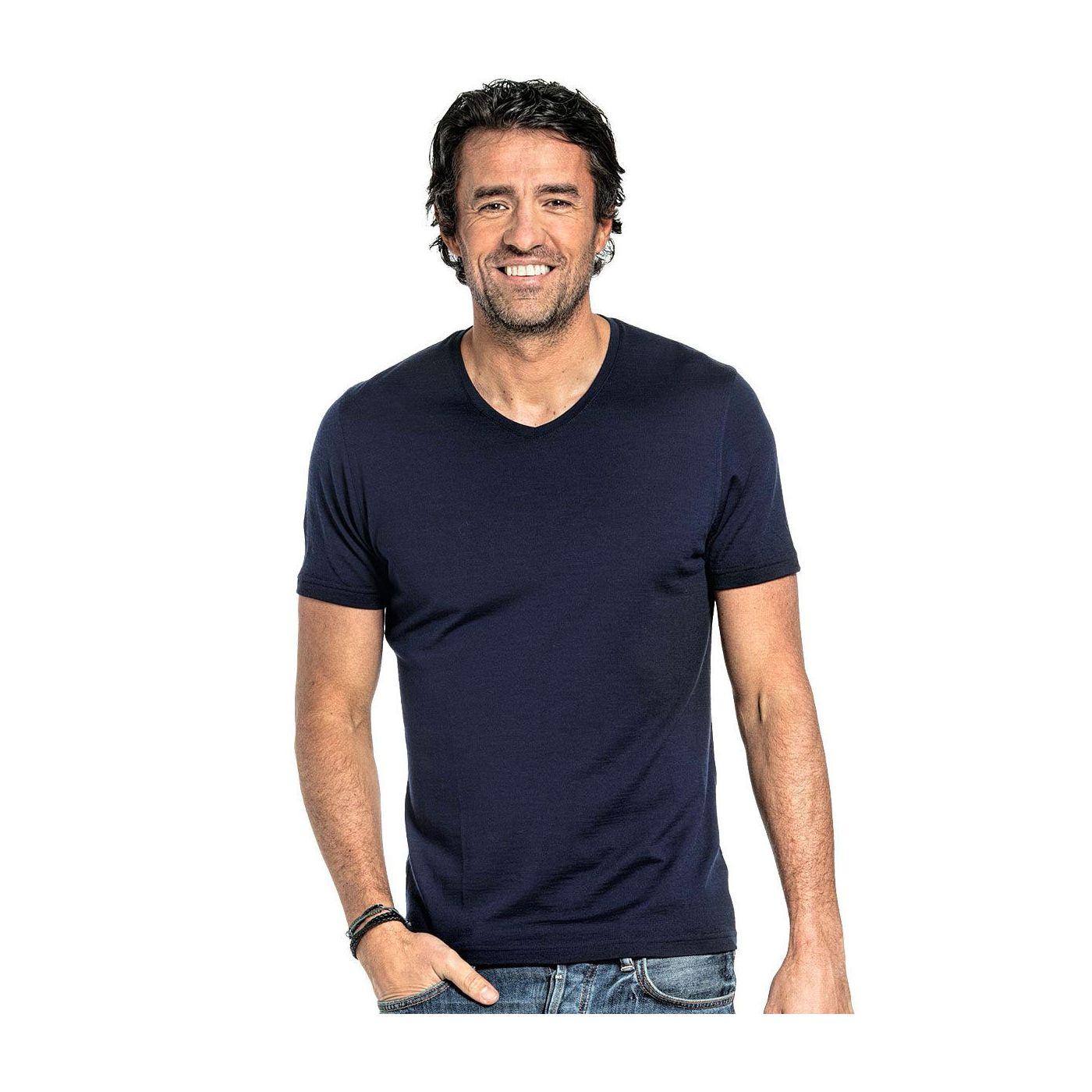 Joe Shirt V-neck Navy Blue