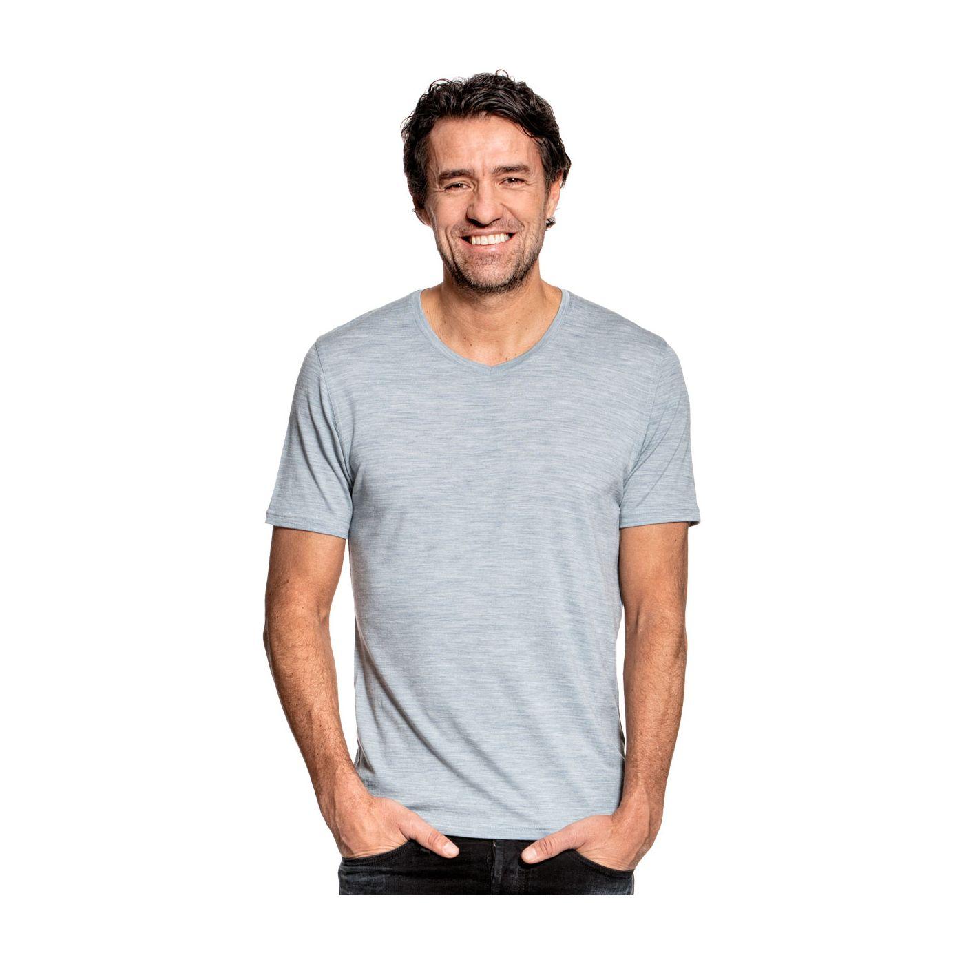Joe Shirt V-neck Hazy Blue