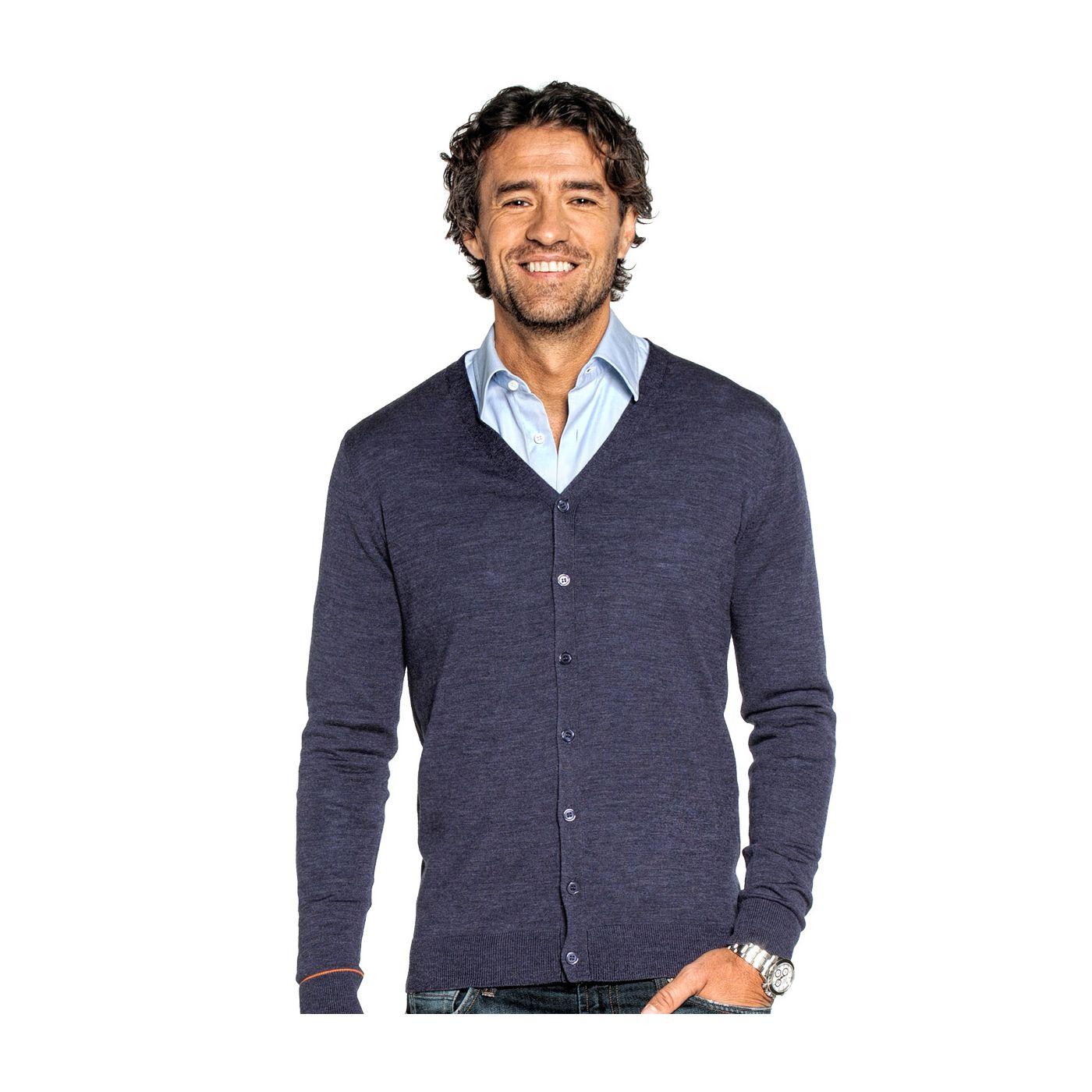 Vest voor mannen gemaakt van merinowol in het Paars