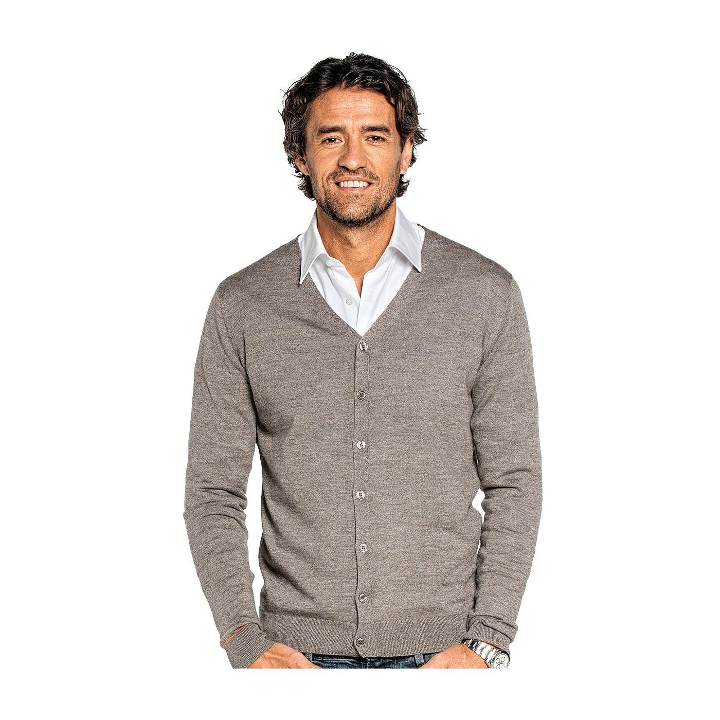 Vest voor mannen gemaakt van merinowol in het Bruin