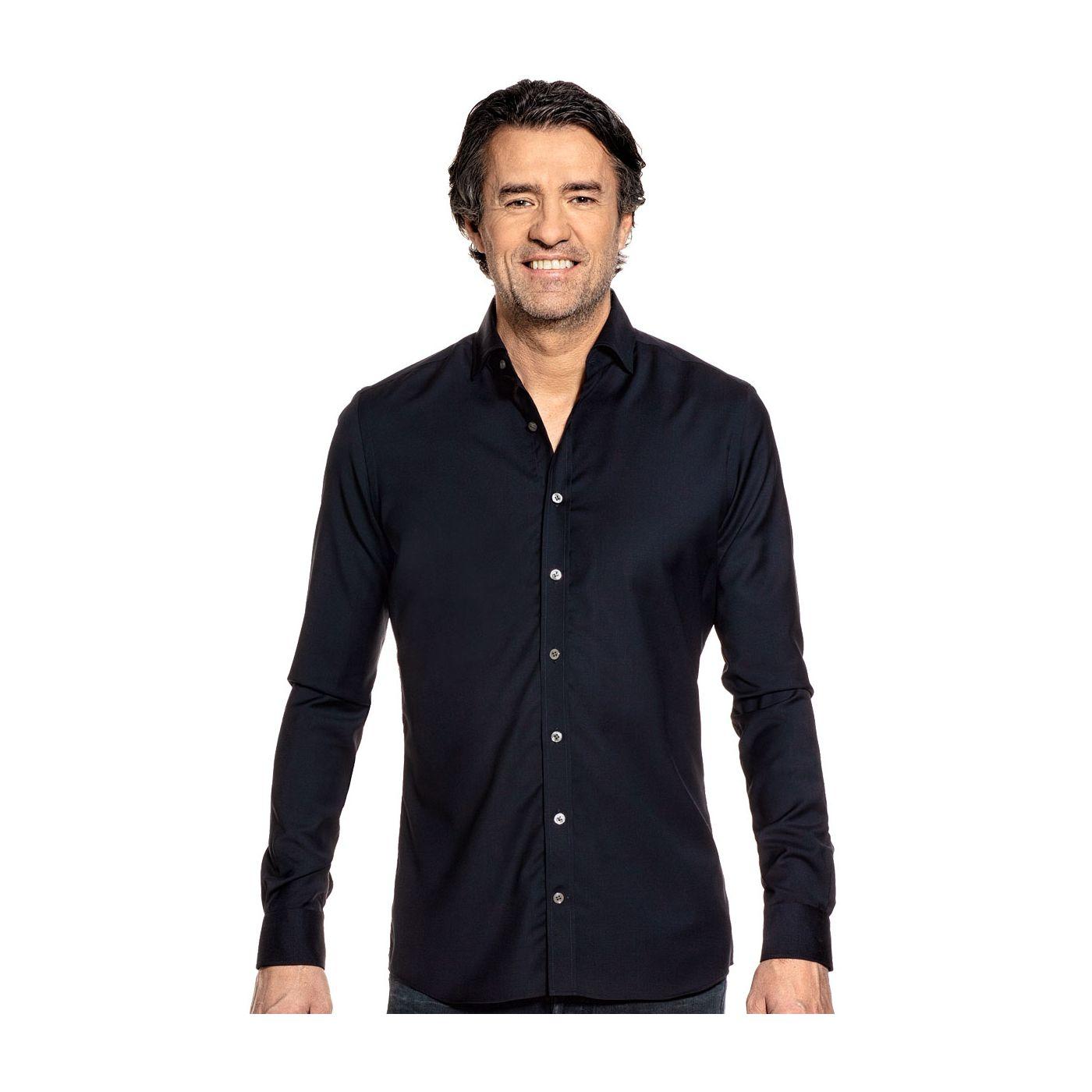 Joe Woven Shirt Very Dark Navy