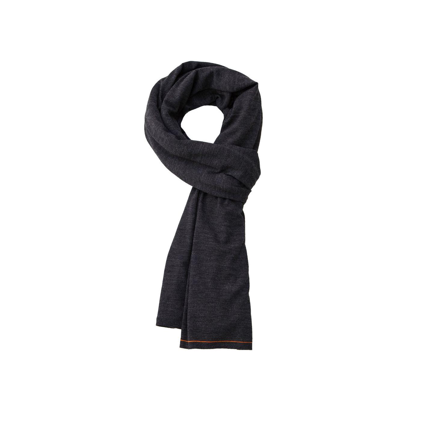 Scarf for men made of Merino wool in Dark grey