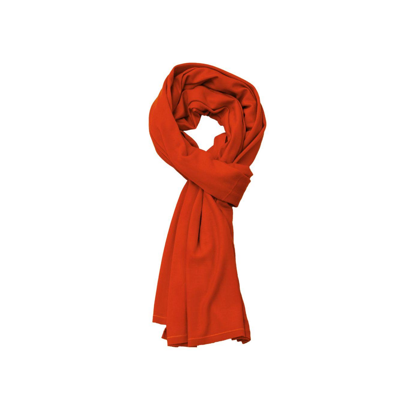 Sjaal voor mannen gemaakt van merinowol in het Oranje
