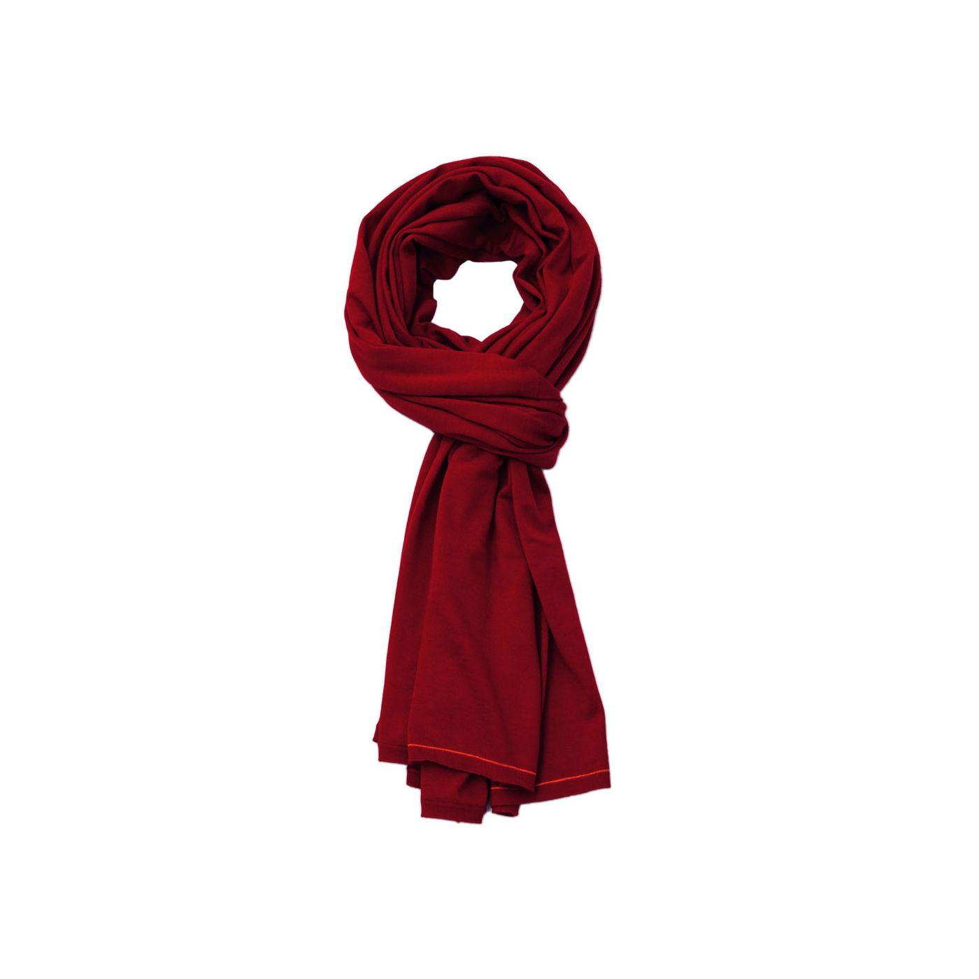 Wollschal für Herren aus Merinowolle in Rot