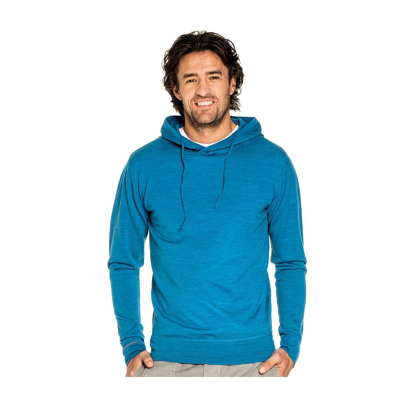 Sport voor mannen gemaakt van merinowol in het Helderblauw