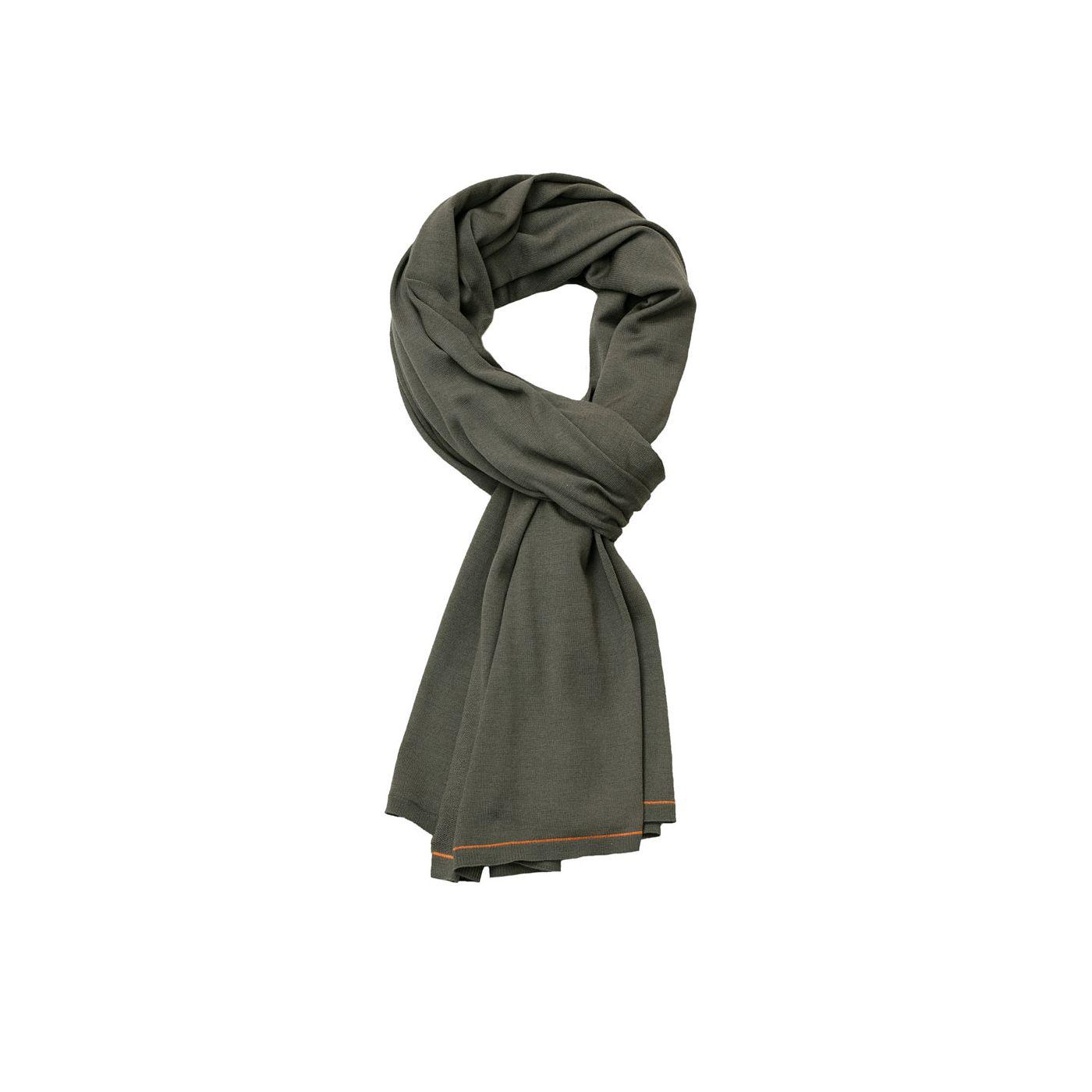 Sjaal voor mannen gemaakt van merinowol in het Groen