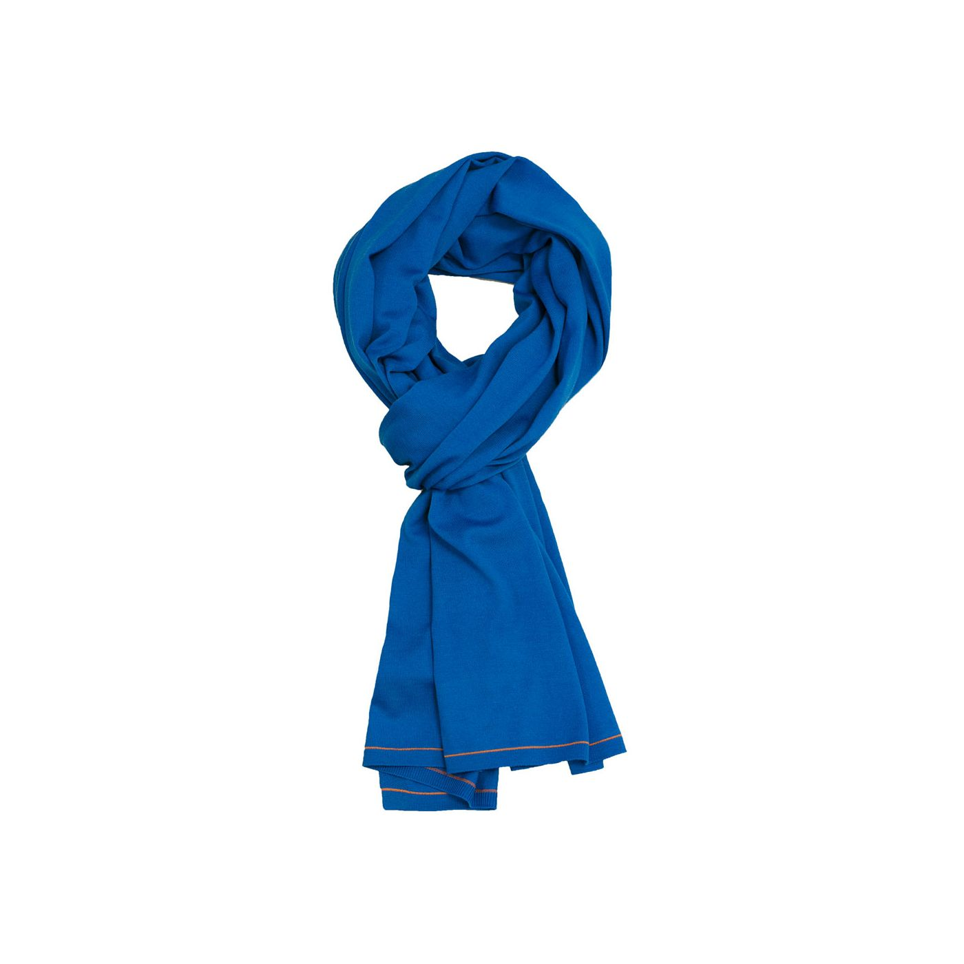 Scarf for men made of Merino wool in Blue