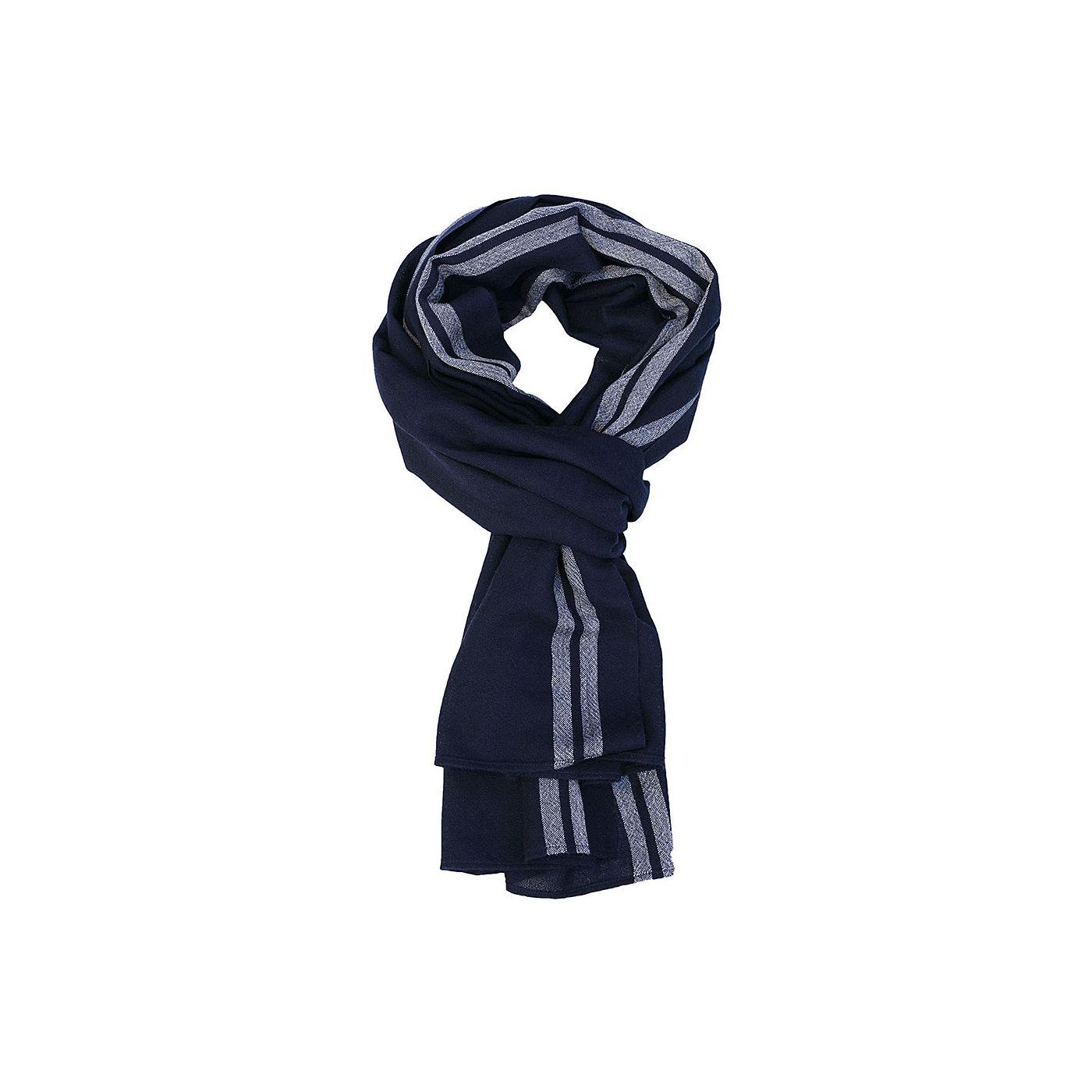Sjaal voor mannen gemaakt van merinowol in het Donkerblauw