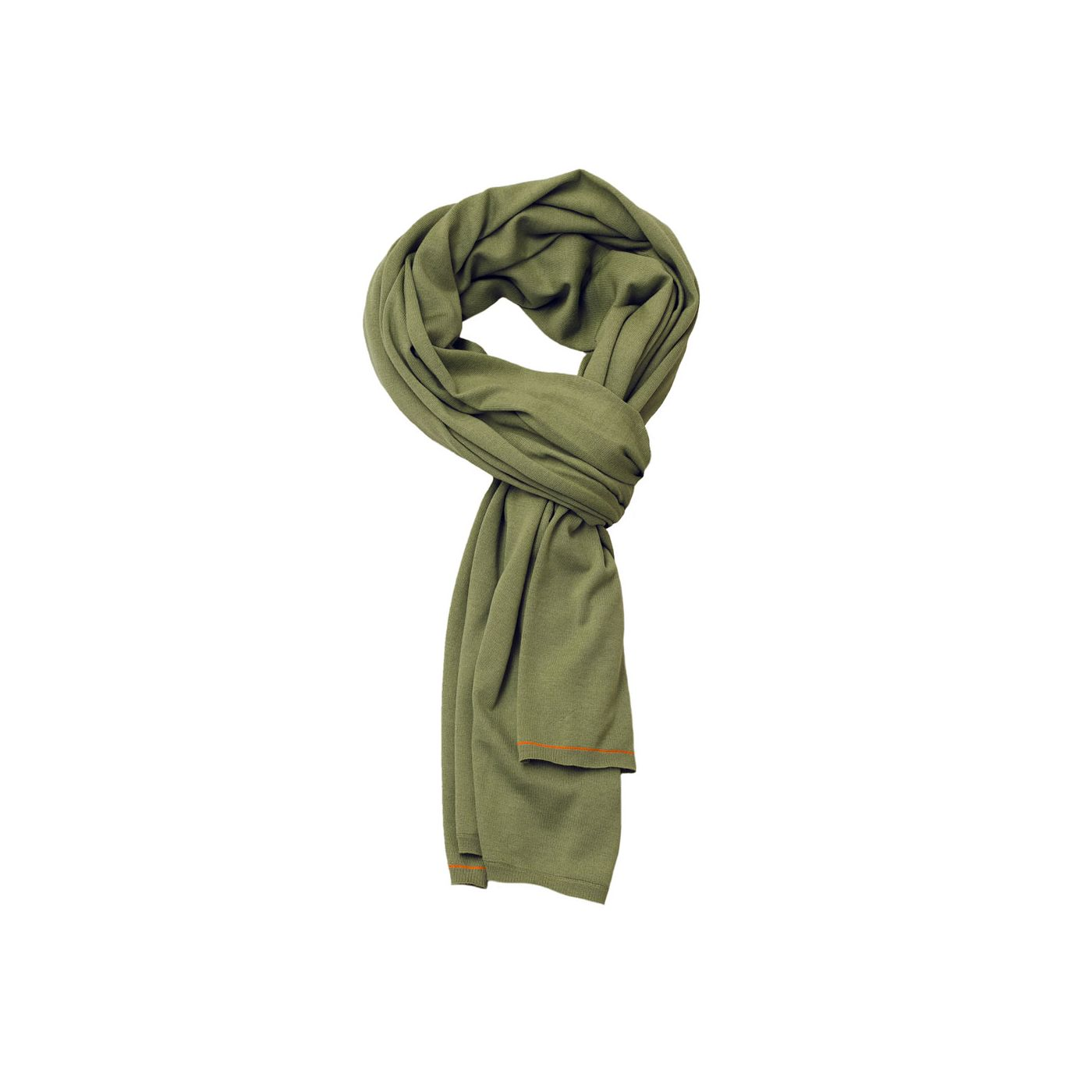 Scarf for men made of Merino wool in Green