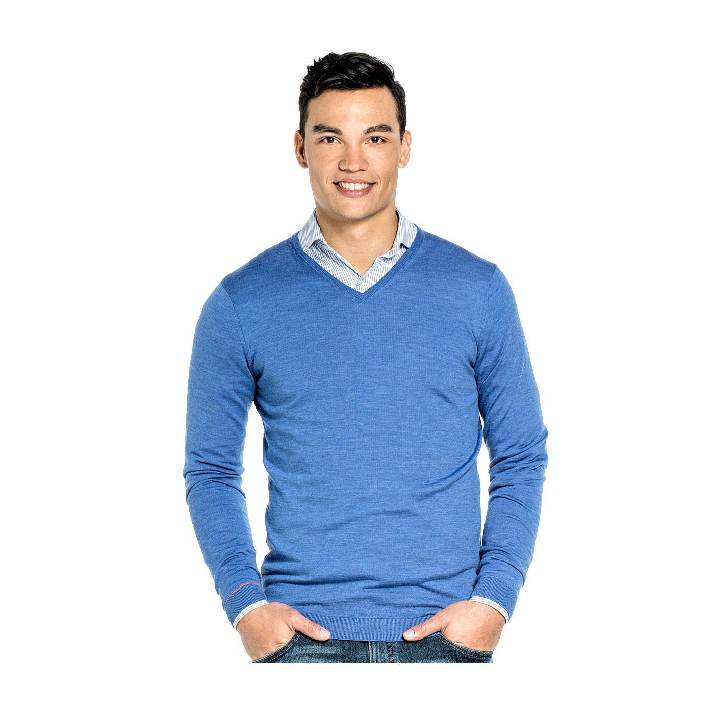 Joe V-neck Extra Long Riviera Blue