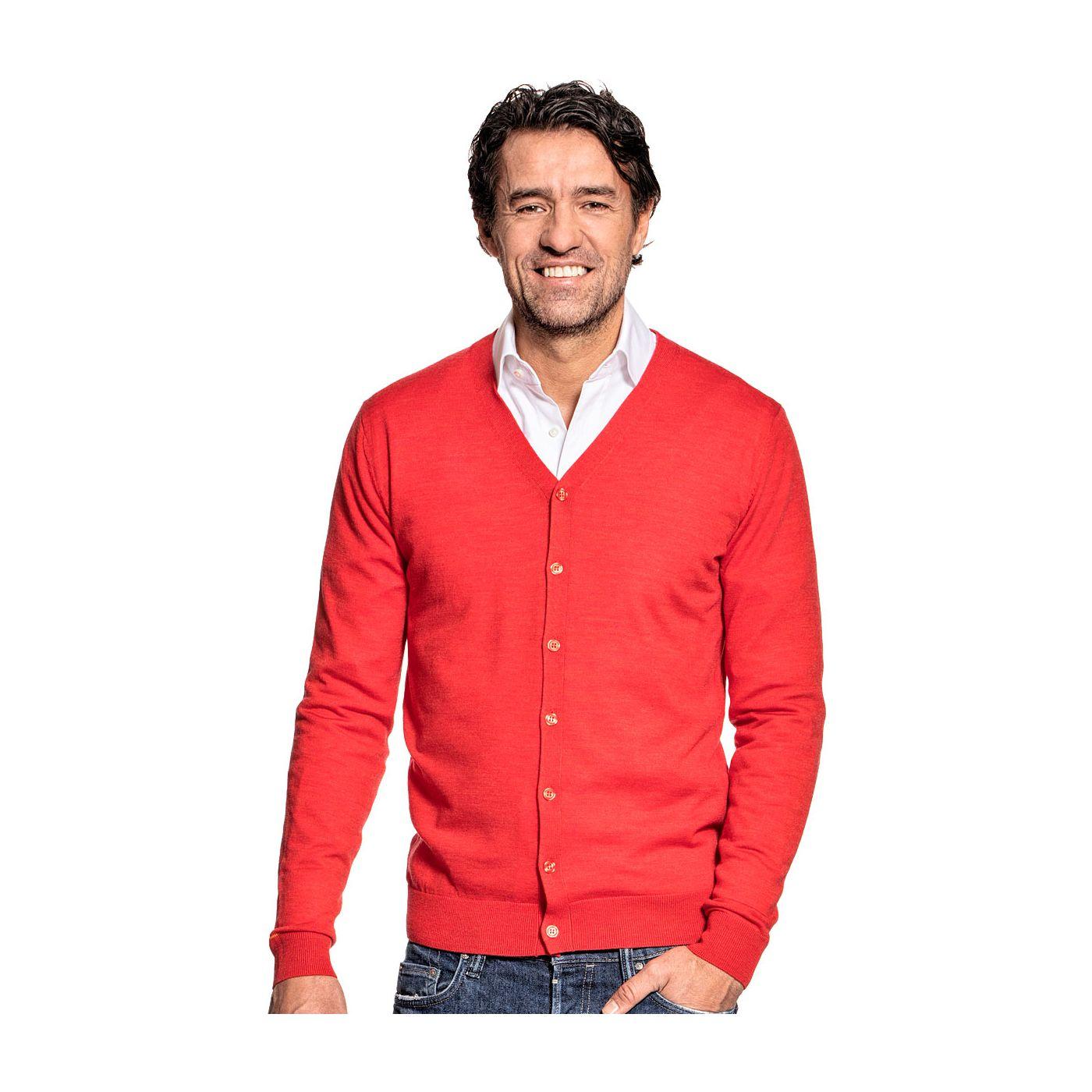 Vest voor mannen gemaakt van merinowol in het Oranje
