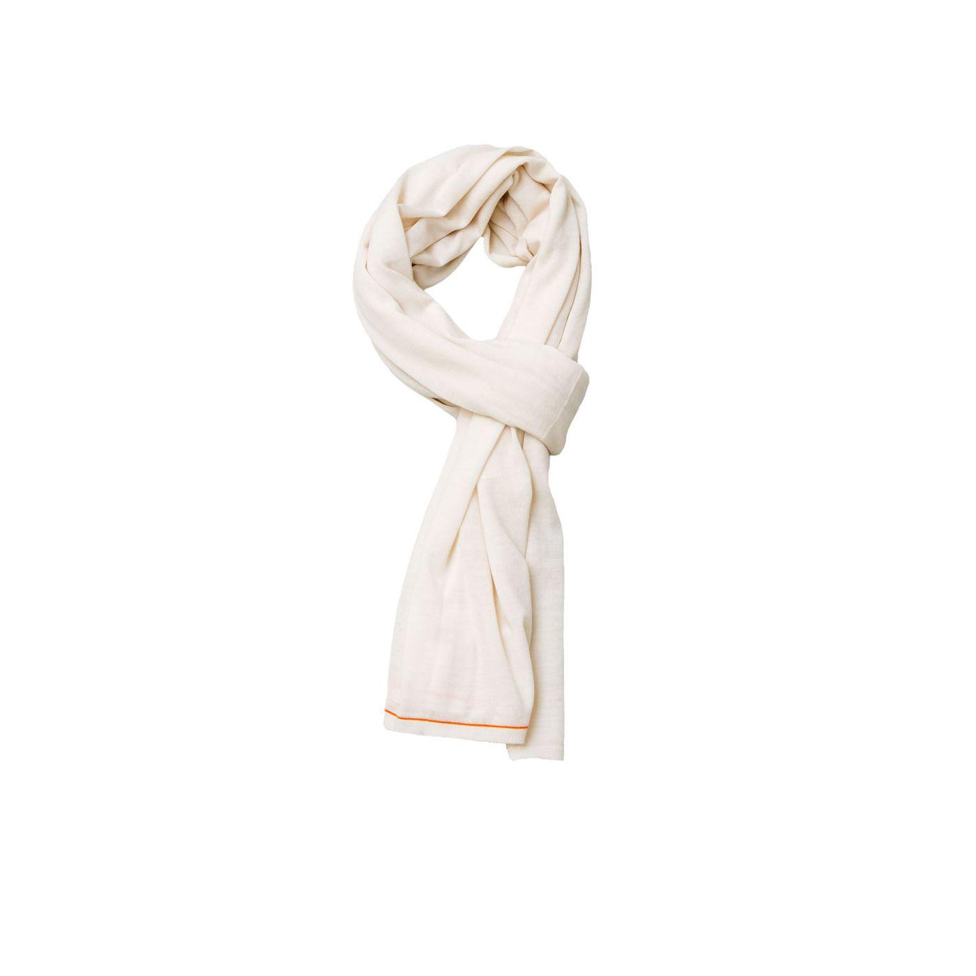 Scarf for men made of Merino wool in White