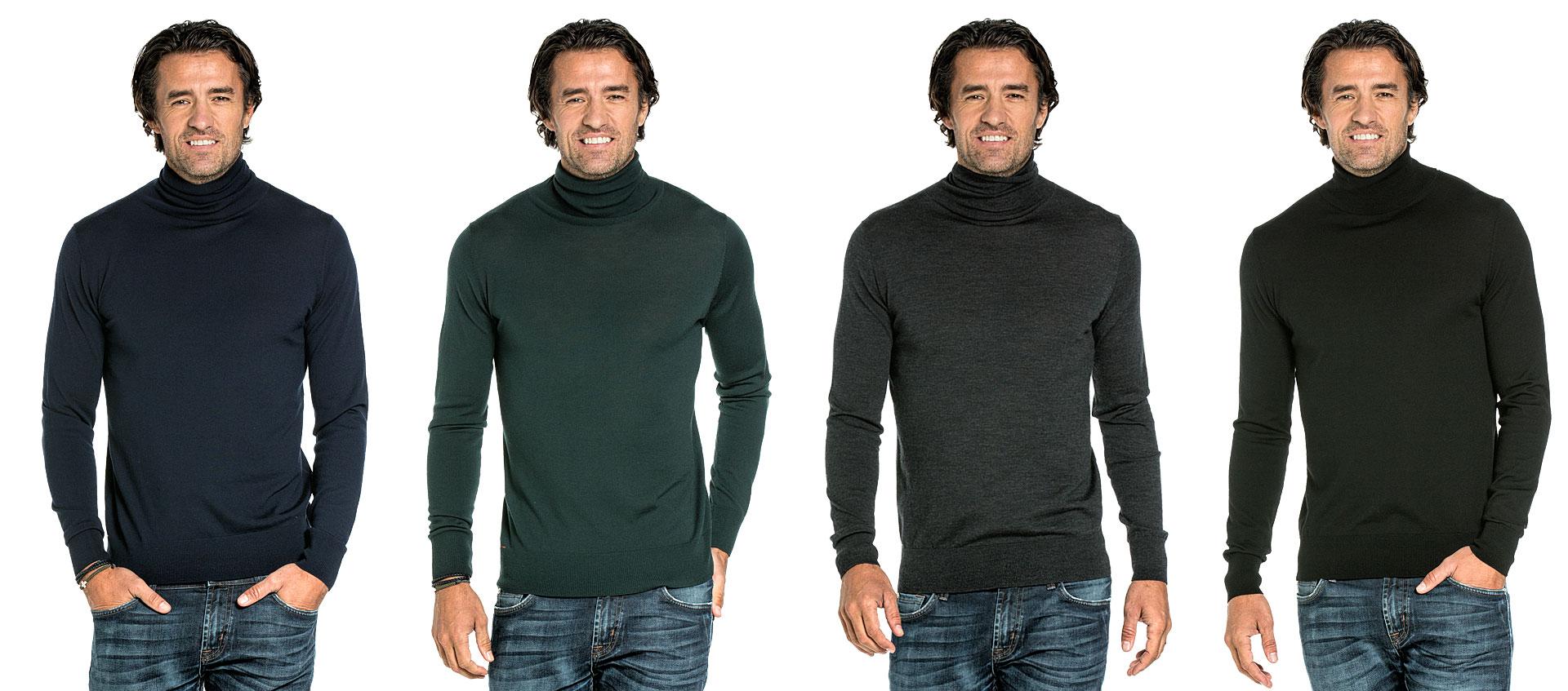 Rollkragenpullover für Herren kaufen Sie versandkostenfrei bei Joe Merino.
