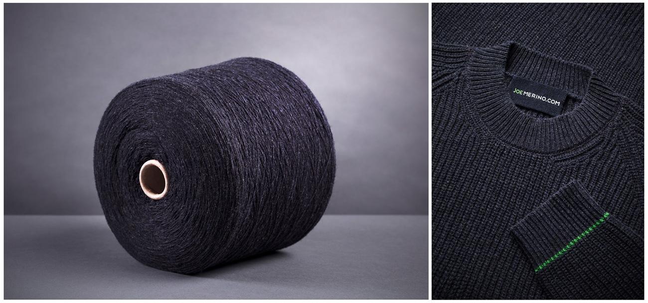 Nachhaltige Merino Pullover von Joe Merino: Der Produktionsprozess des Recycling Pullovers.