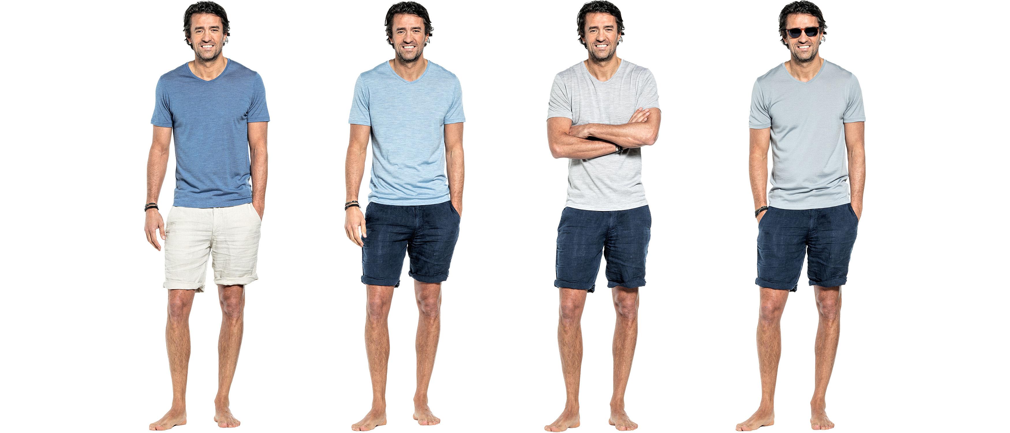 Ademende zomershirts voor heren gemaakt van de fijnste merino wol.