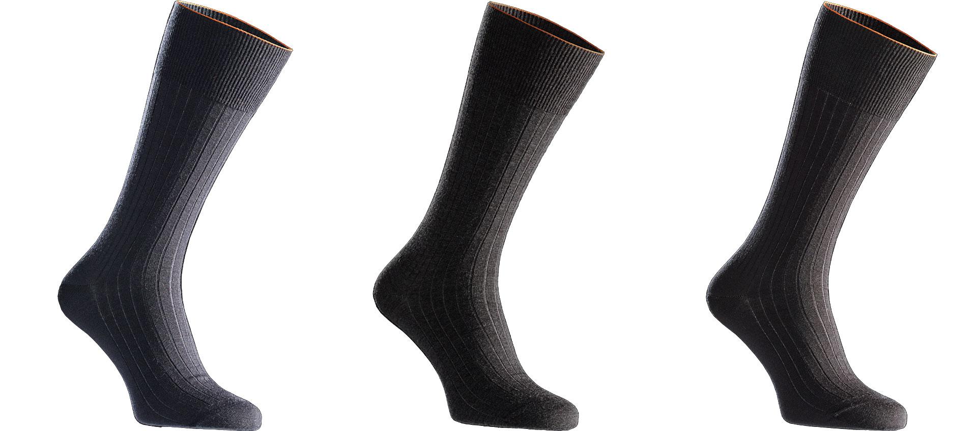 Merino Business Socken in Schwarz und Dunkelblau aus 1000% Merinowolle bei Joe Merino online kaufen.