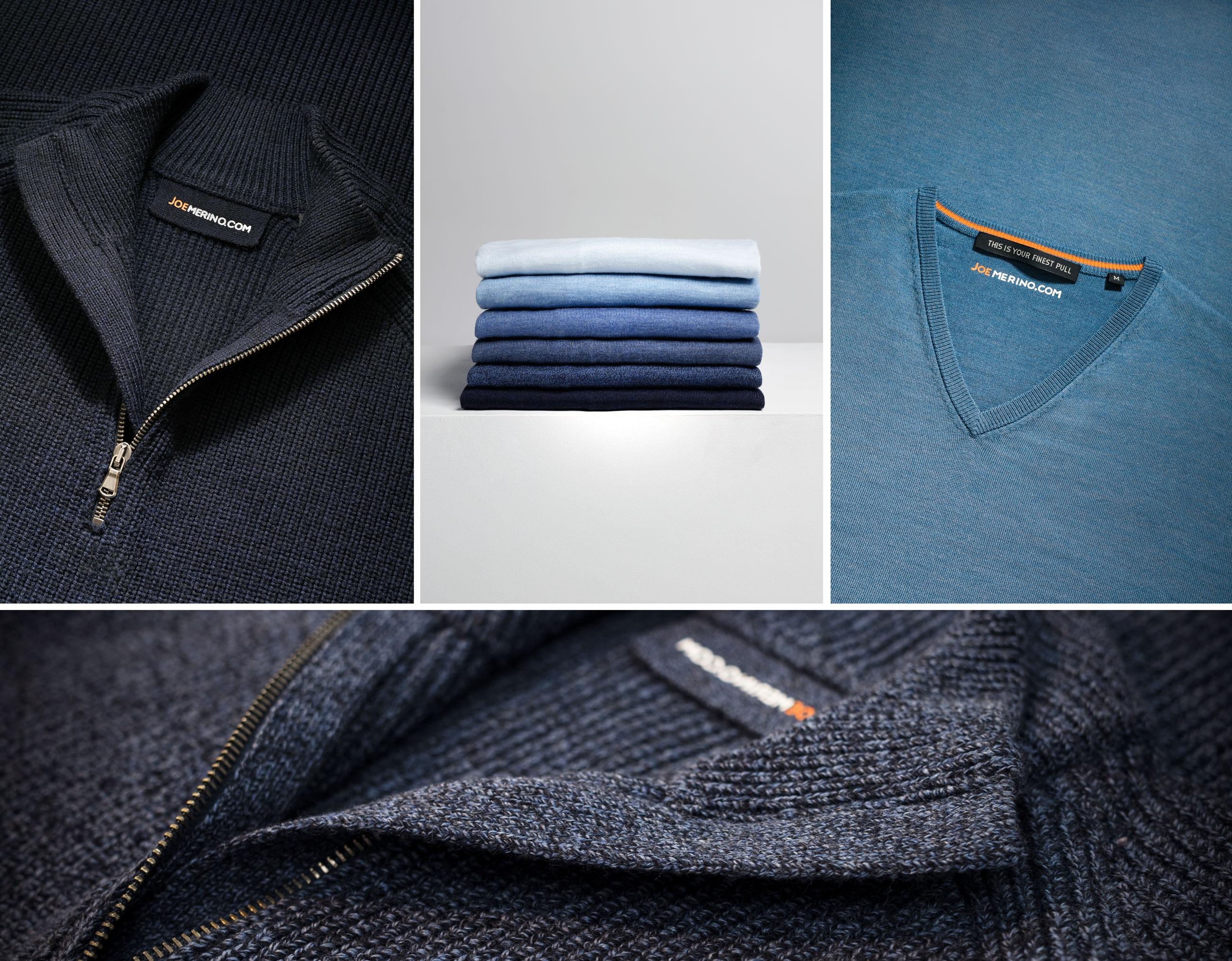 Edle Pullover für Herren von Joe Merino - hergestellt aus 100% feiner Merinowolle.