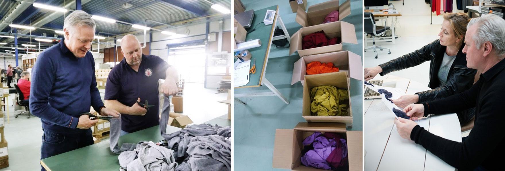 Recycelte Pullover aus Merinowolle: Joe Merino produziert nachhaltige Recycling Pullover.