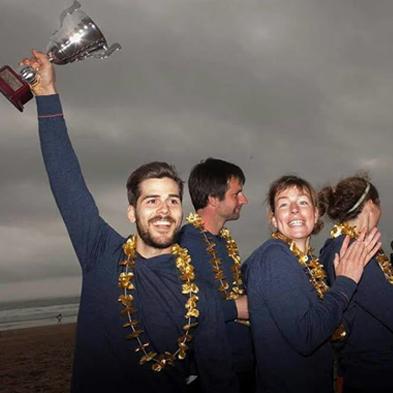 Het Nederlands Nationaal Frisbee Team in onze trui Joe Sport Coastal Blue