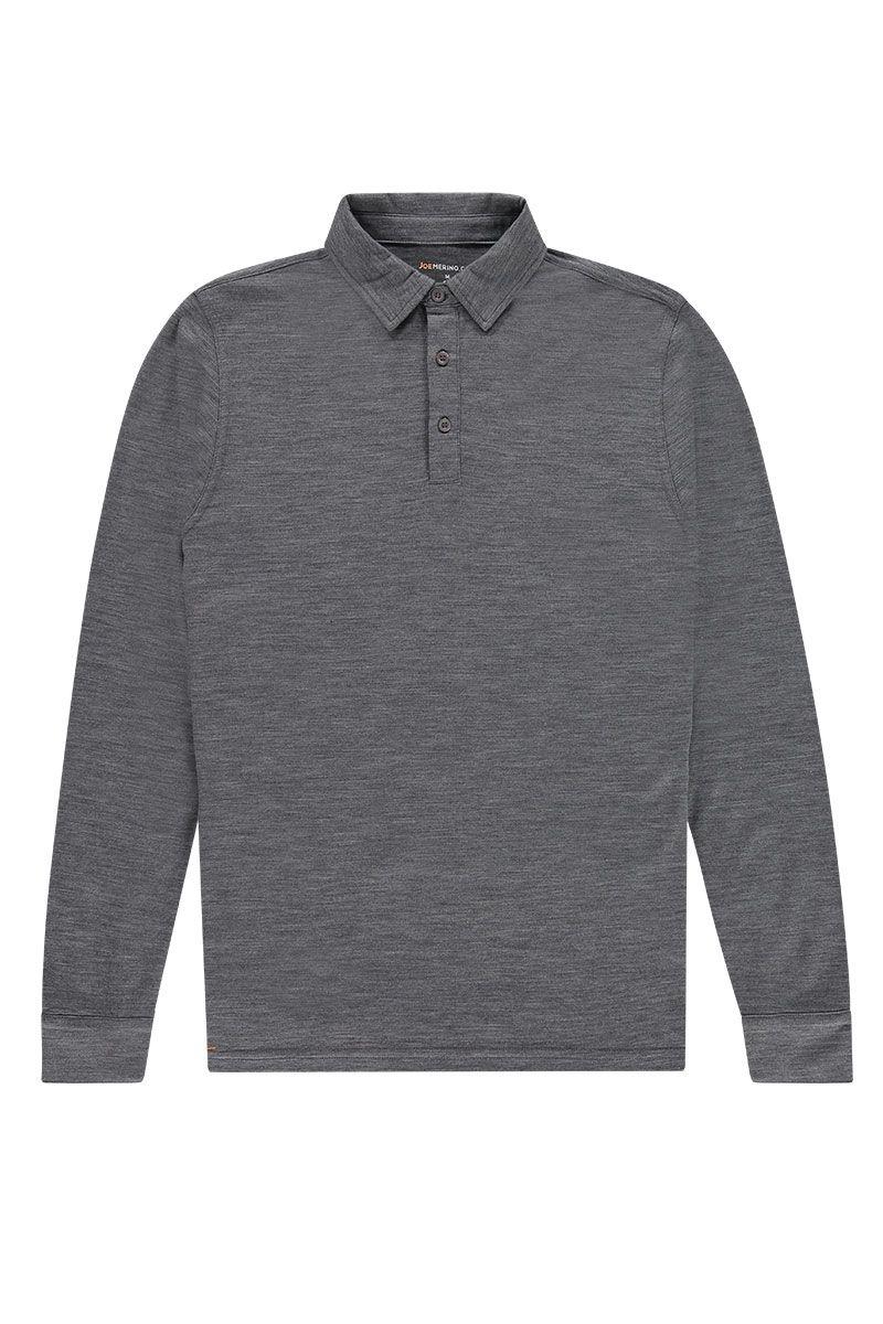 Shirt Polo Long Sleeve Harvard Grey