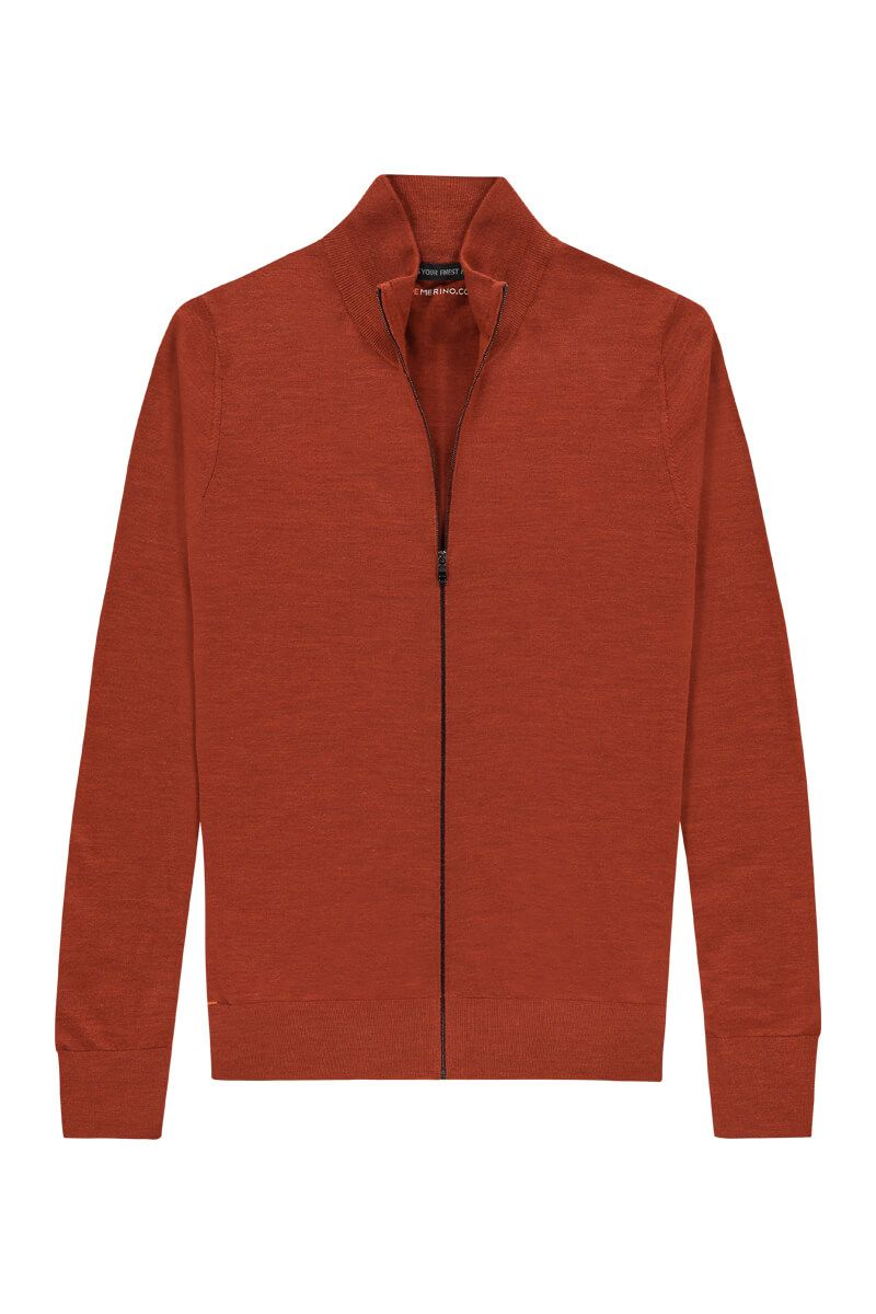 Riva Cardigan Zip Copper Canyon